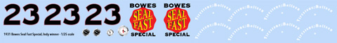1931 Bowes Seal Fast Decals