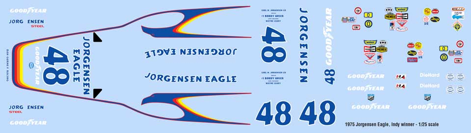 1975 Jorgensen Eagle Decal sheet