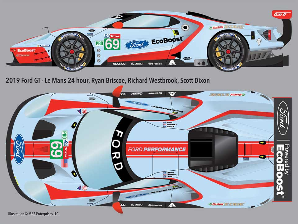 2019 Ford GT Le Mans Decals