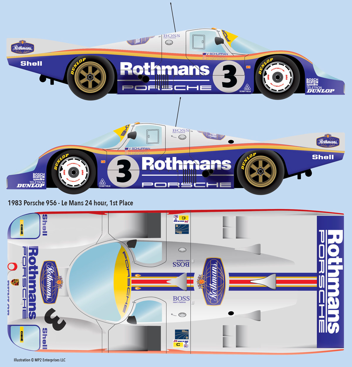 for porsche 956-robustelli 1//43 ° Decal for wheels dashboard,..
