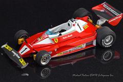1976 Ferrari 312T2 Hasegawa, Indycals, Niki Lauda, Clay Regazzoni, decals, 1/20, scale