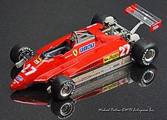 1982 Ferrari 126C2, Fujimi, 1/20 scale, Indycals, Gilles Villeneuve, Didier Pironi